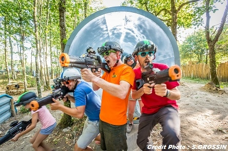 Lasertag with children in Vendée