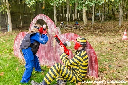 paintball children in Vendée